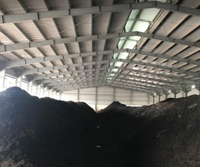 nhà máy thu gom bùn thải